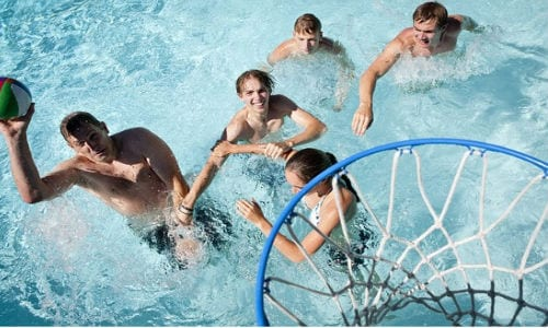 swimming pool basketball | swimming pool games for teenagers | pool party games