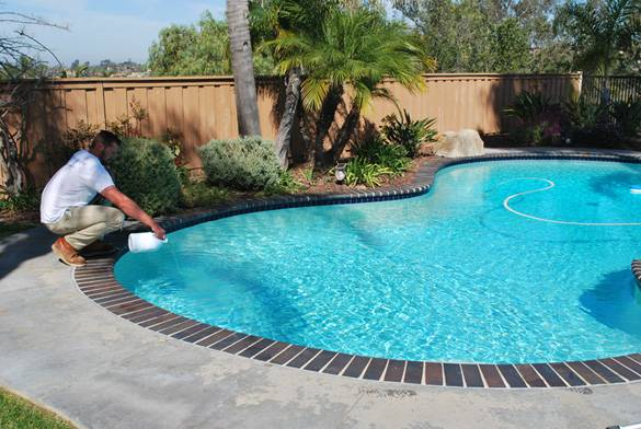 add chlorine to pool balance your pool water