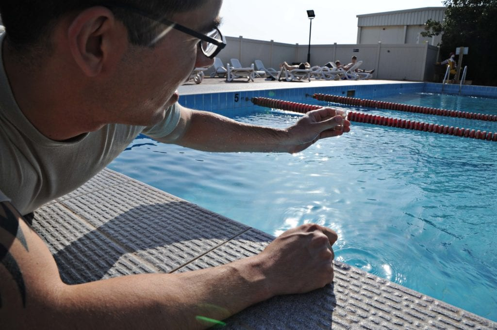 lower ph to fix green pool