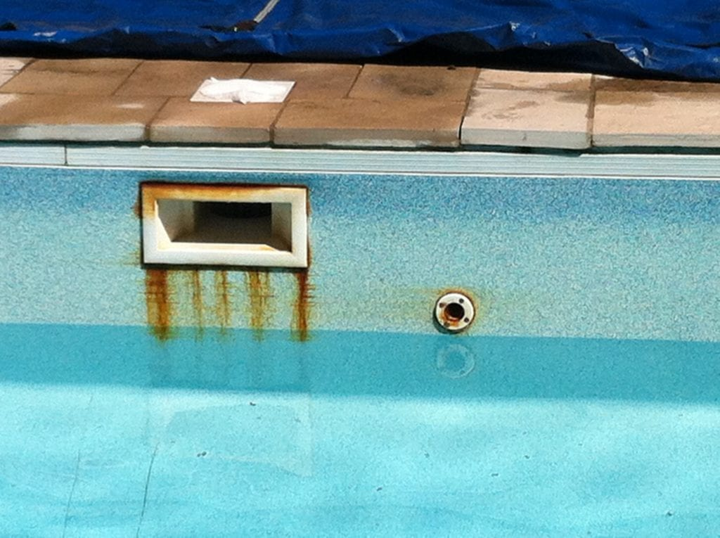 rust pool stains rust pool stain removal