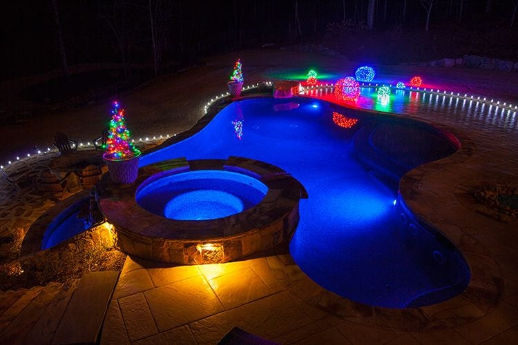 Christmas Pool Party Decorations For Around The