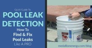 find and fix pool leaks pool leak detection